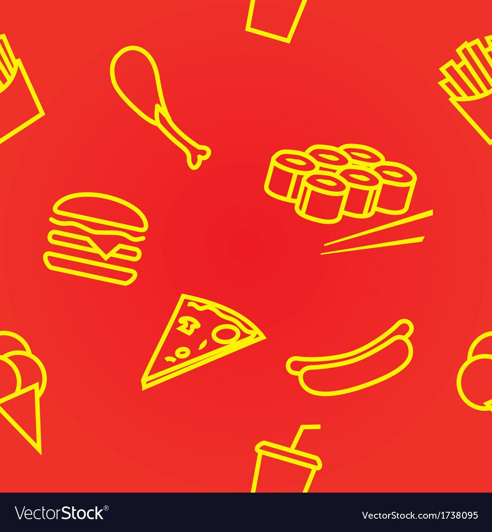 Fastfoodset seamless vector | Price: 1 Credit (USD $1)