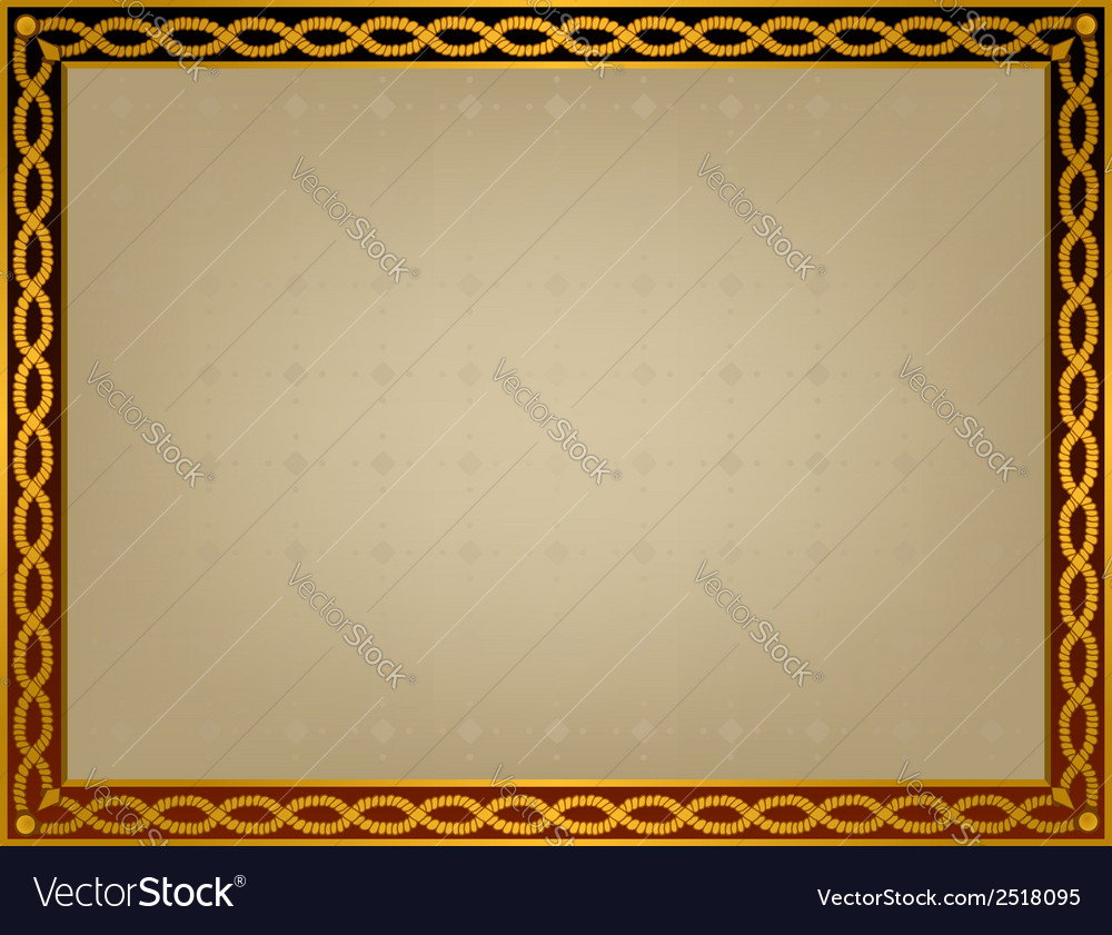 Frame with golden twirl vector | Price: 1 Credit (USD $1)