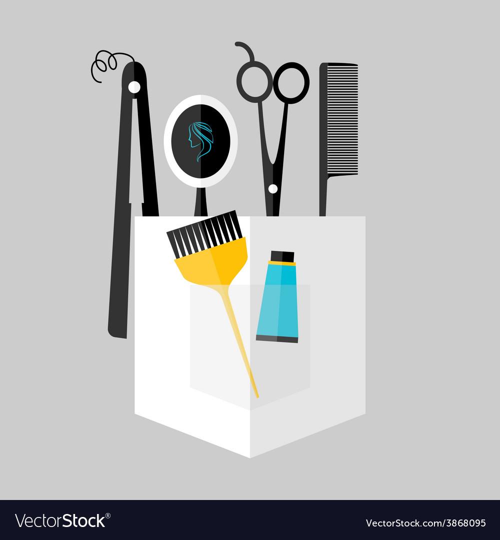 Hair stylist instruments vector | Price: 1 Credit (USD $1)