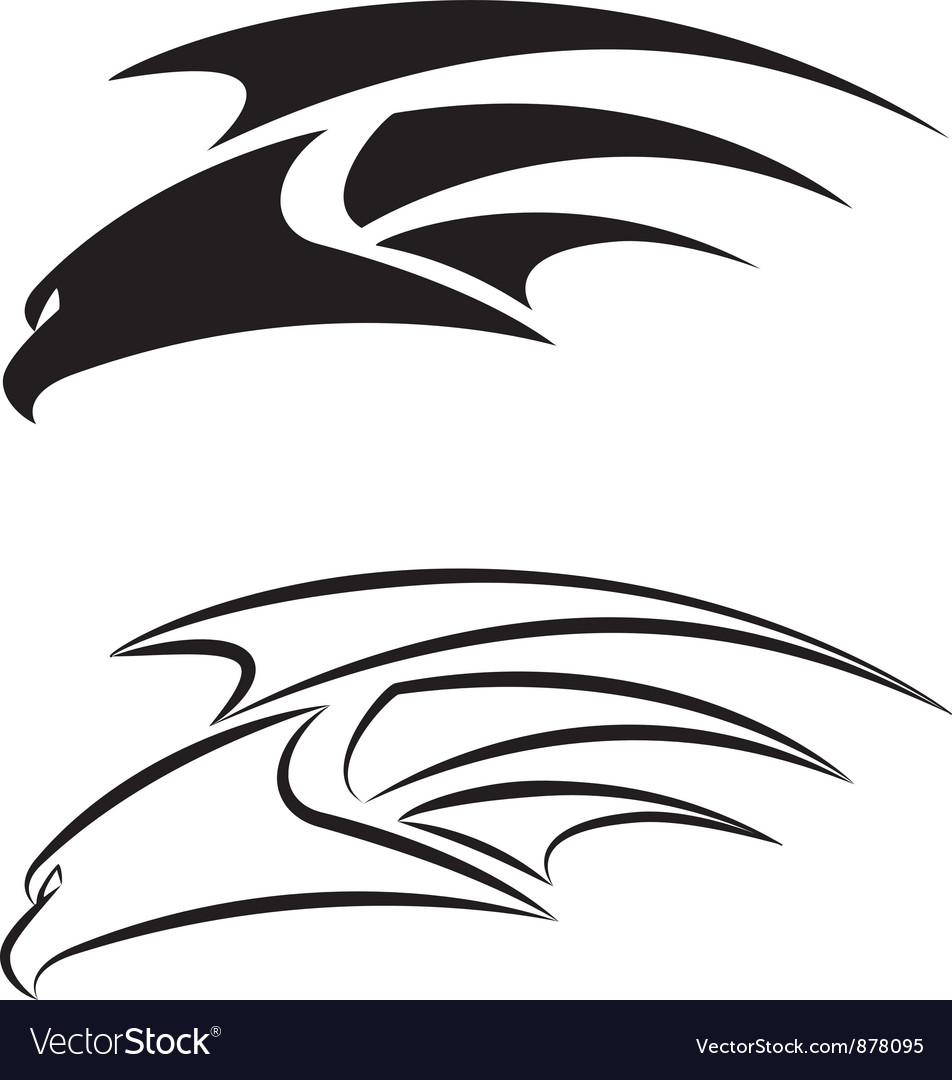 Hawk set vector | Price: 1 Credit (USD $1)