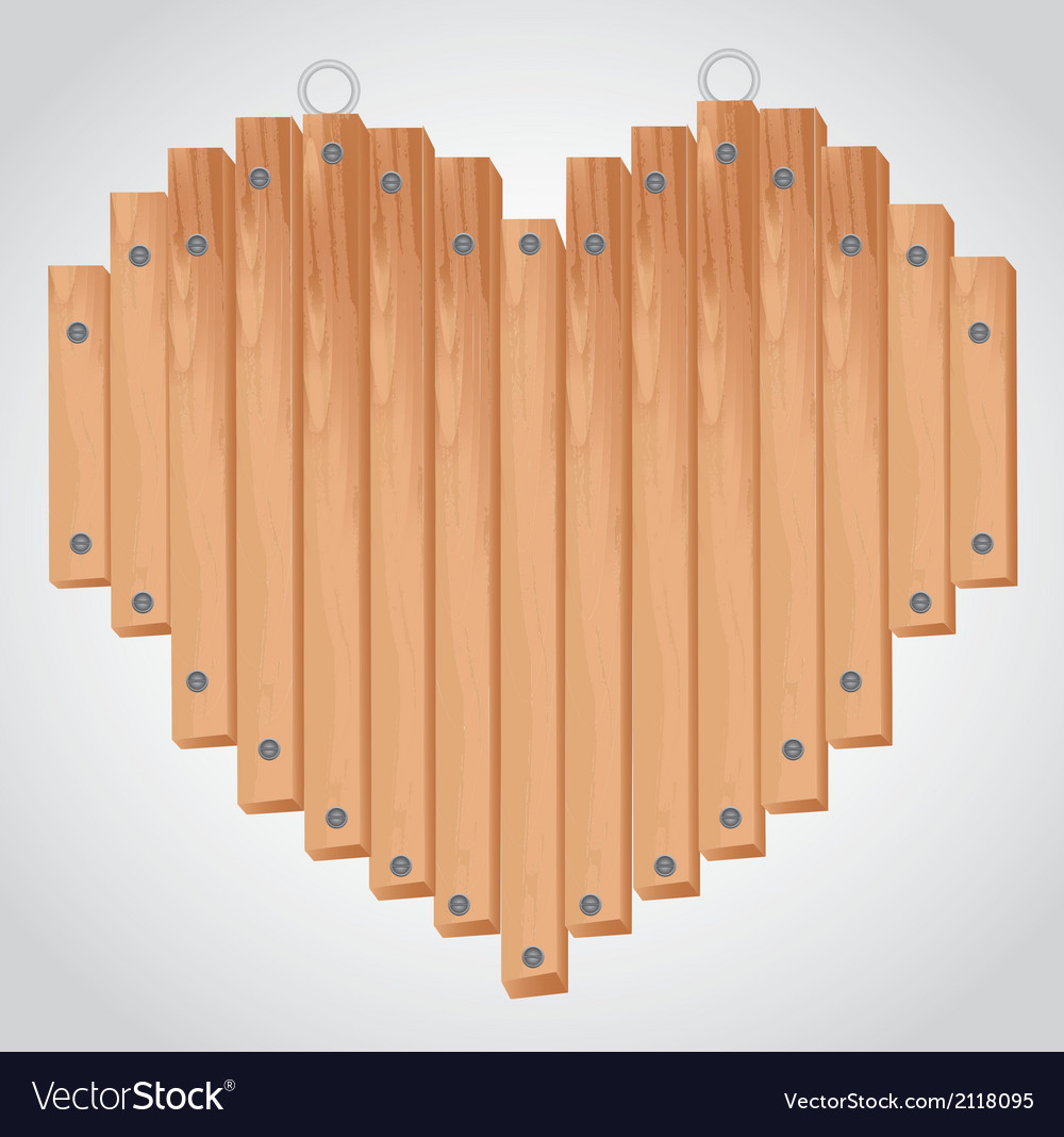 Heart wood board with grommets for hanging vector | Price: 1 Credit (USD $1)