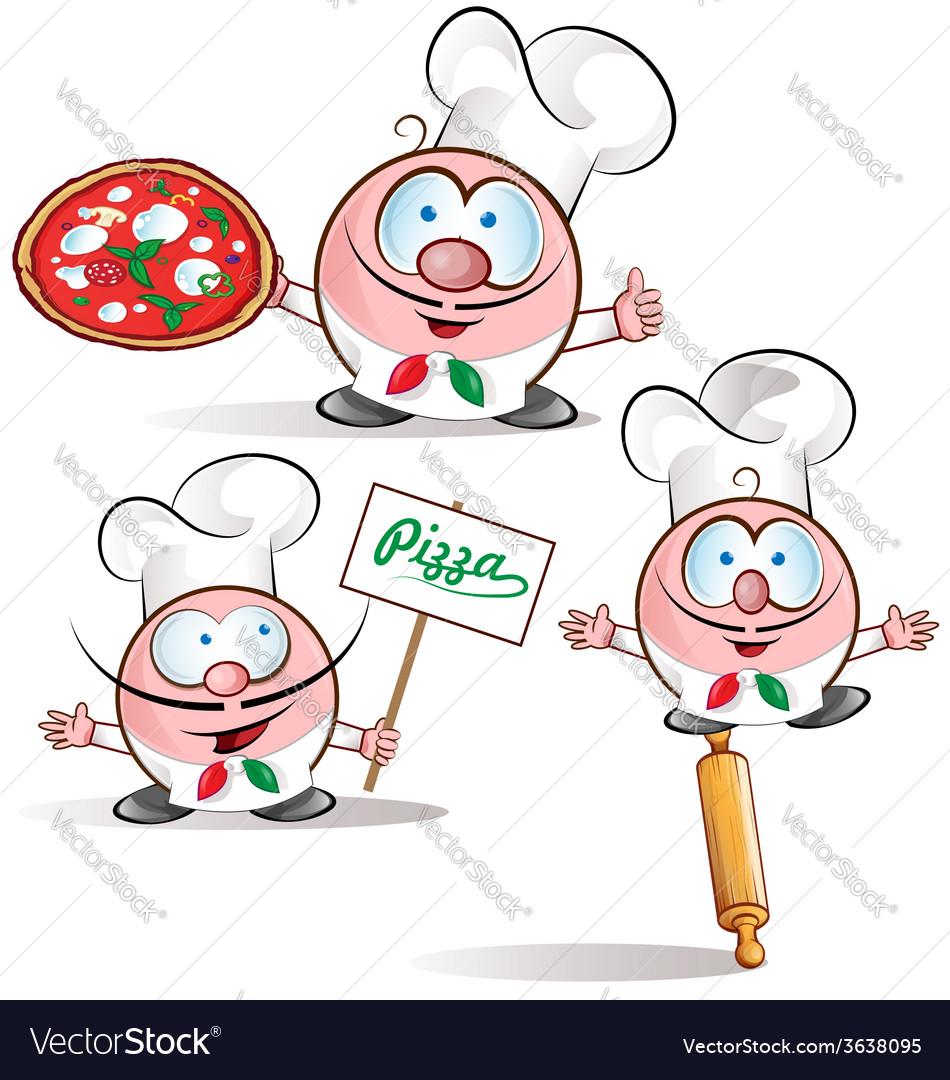 Italian chef set vector | Price: 1 Credit (USD $1)