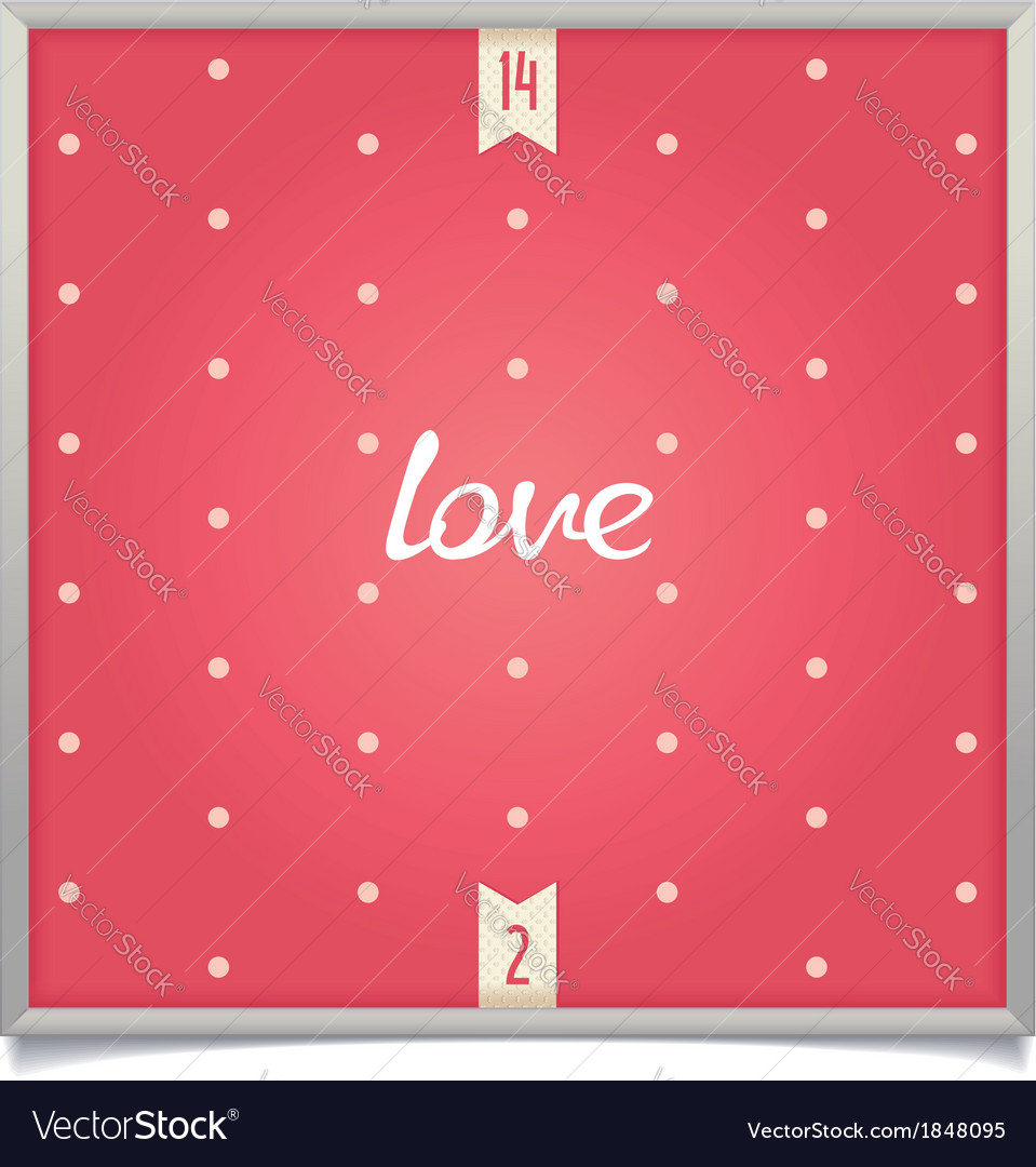 Minimalistic love background vector | Price: 1 Credit (USD $1)