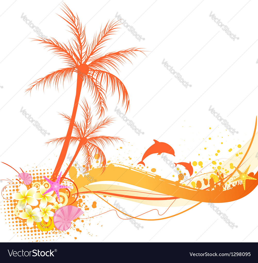 Orange palm abstract vector | Price: 1 Credit (USD $1)