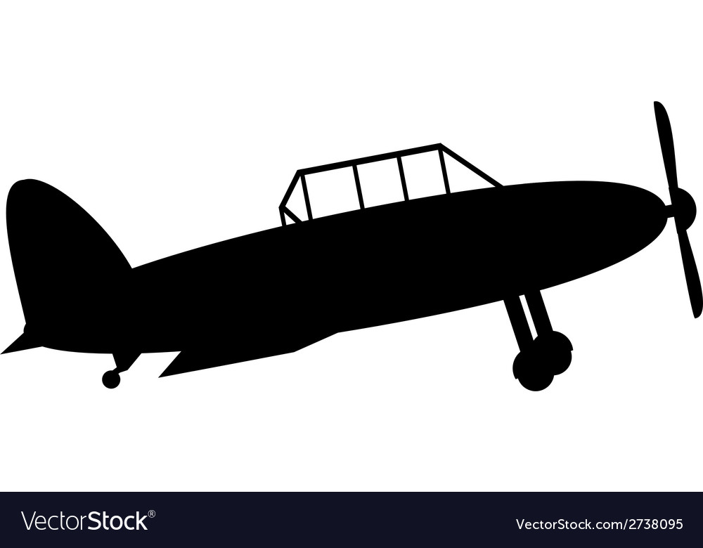 Retro military airplane icon vector | Price: 1 Credit (USD $1)