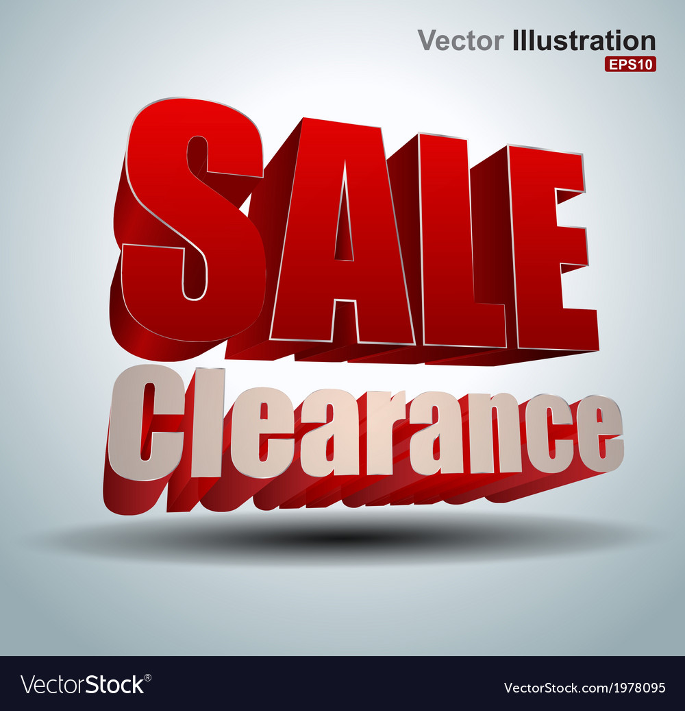 Sale clearance vector | Price: 1 Credit (USD $1)