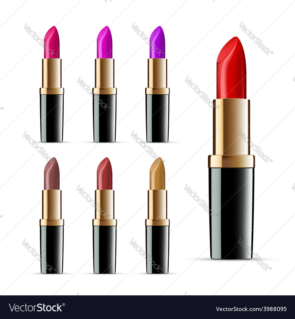 Set of lipsticks vector | Price: 1 Credit (USD $1)