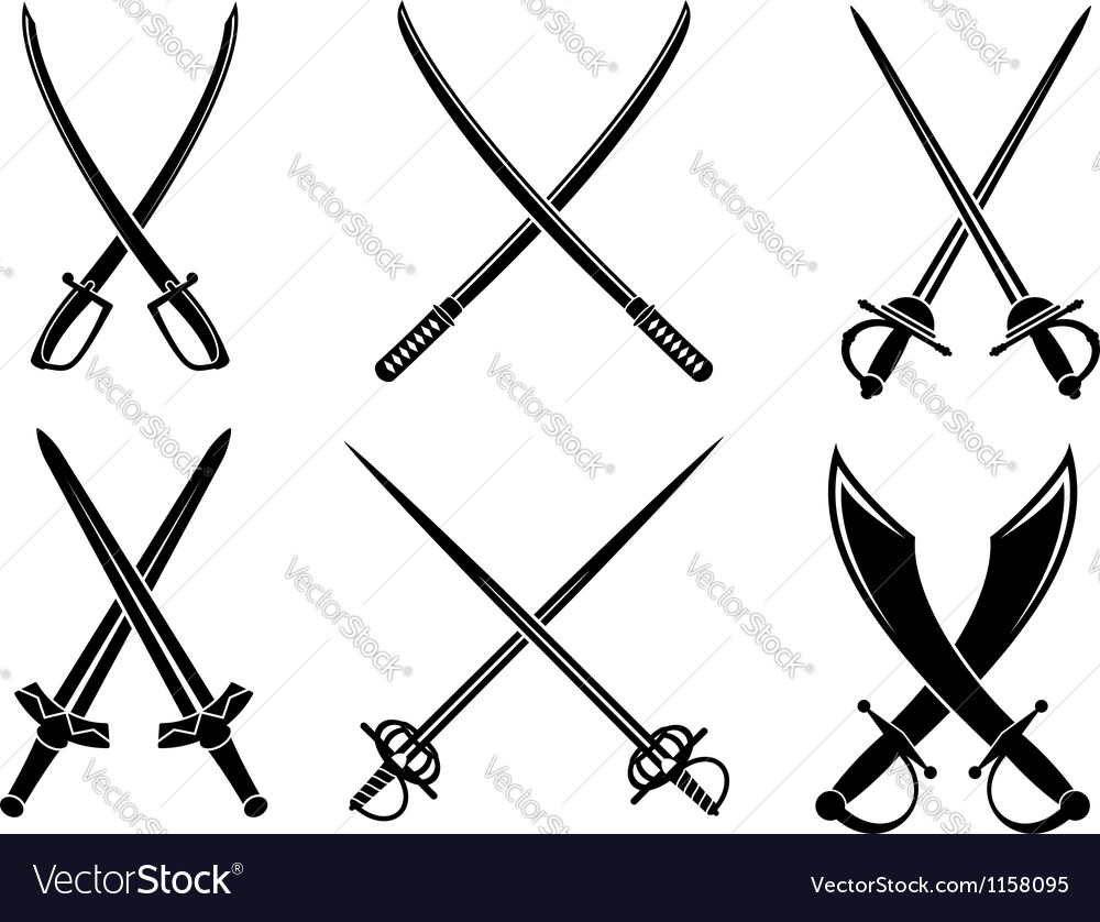 Swords sabres and longswords set vector | Price: 1 Credit (USD $1)