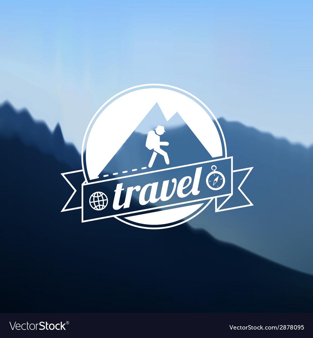 Tourism travel logo design vector | Price: 1 Credit (USD $1)