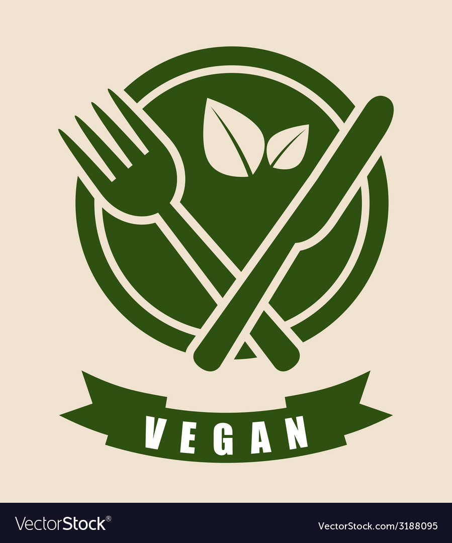 Vegan food design vector | Price: 1 Credit (USD $1)