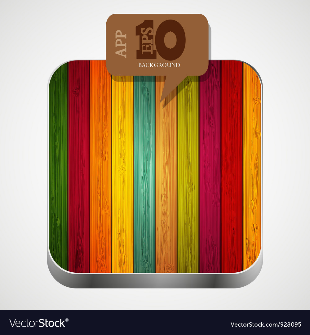 Wooden app icon vector | Price: 1 Credit (USD $1)