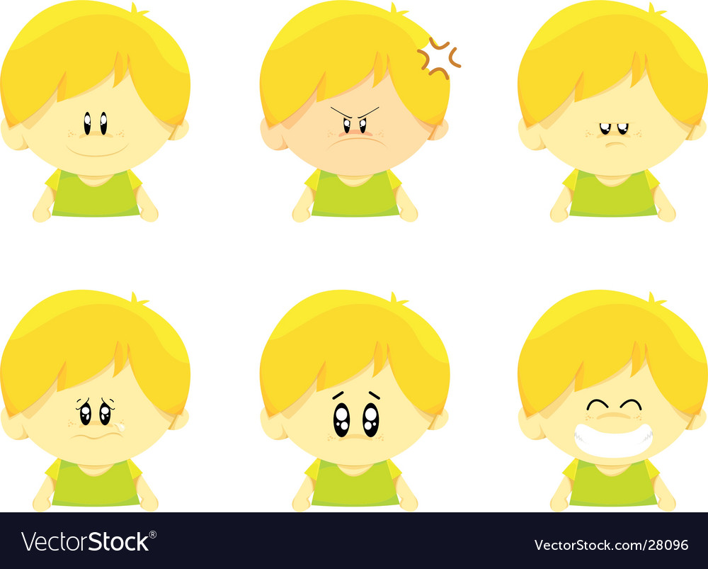 Emotion icons set vector | Price: 1 Credit (USD $1)