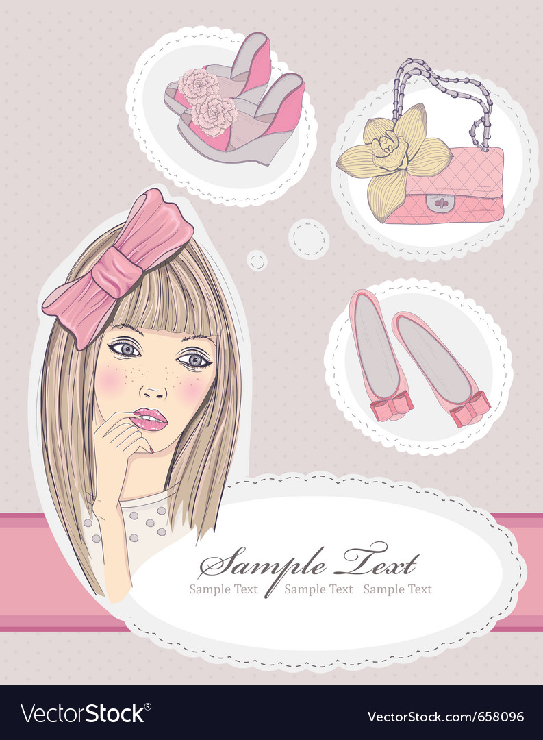Fashion girl dreaming vector | Price: 3 Credit (USD $3)