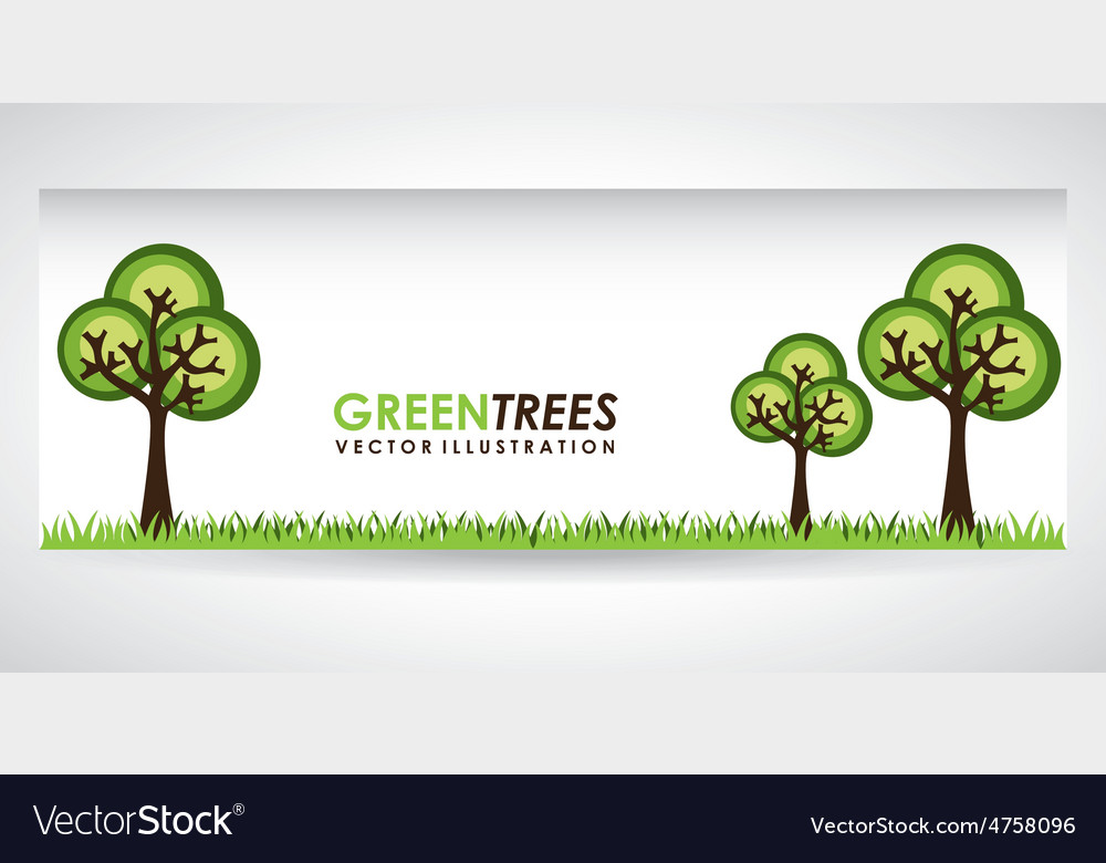 Green trees vector | Price: 1 Credit (USD $1)