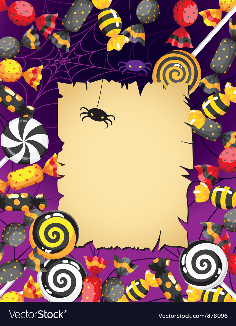 Halloween sweets card vector | Price: 1 Credit (USD $1)