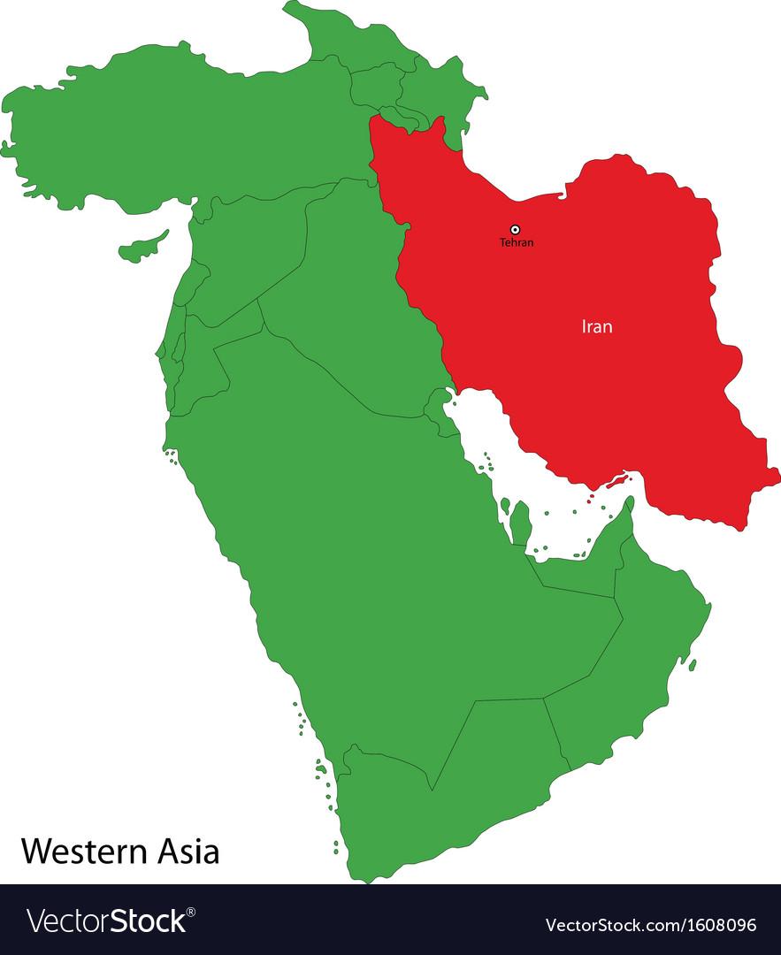 Iran map vector   Price: 1 Credit (USD $1)