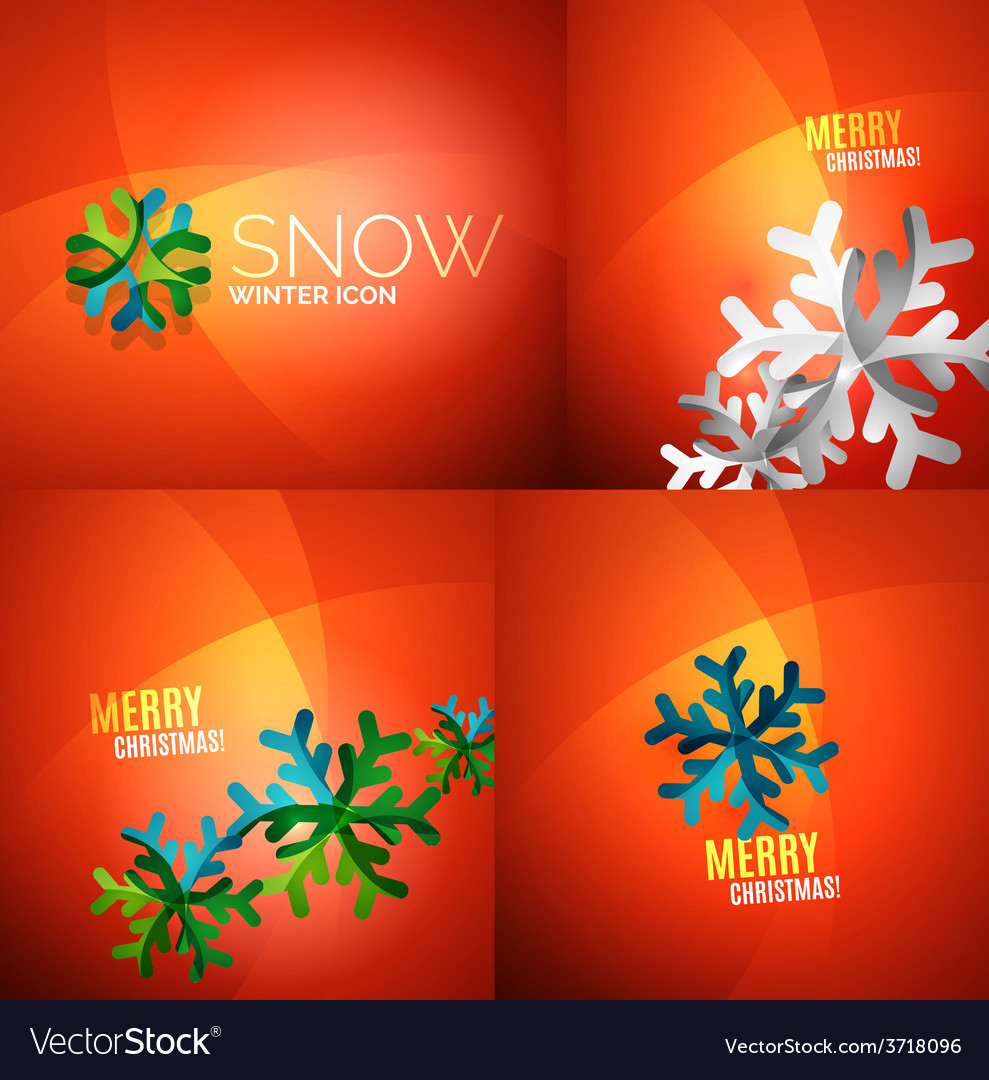 Modern abstract christmas card set vector | Price: 1 Credit (USD $1)