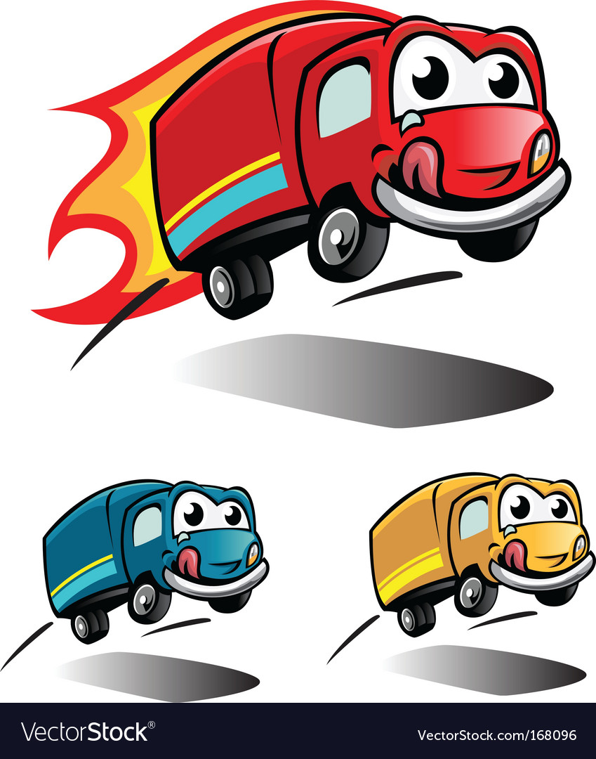 Smile truck vector | Price: 1 Credit (USD $1)