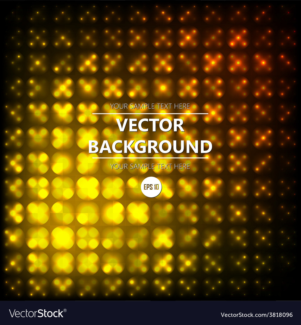 Yellow disco abstraction background vector | Price: 1 Credit (USD $1)