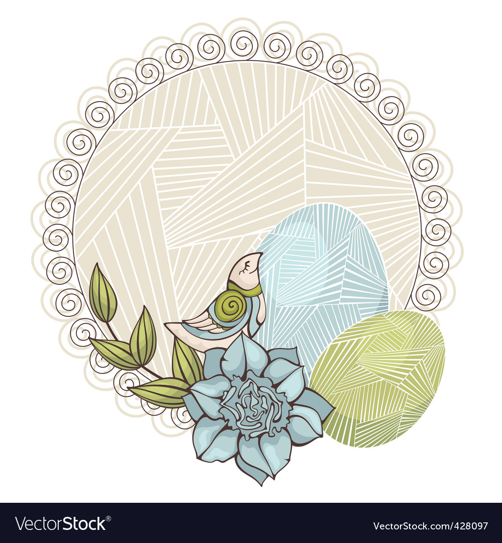 Background with bird and eggs vector | Price: 1 Credit (USD $1)