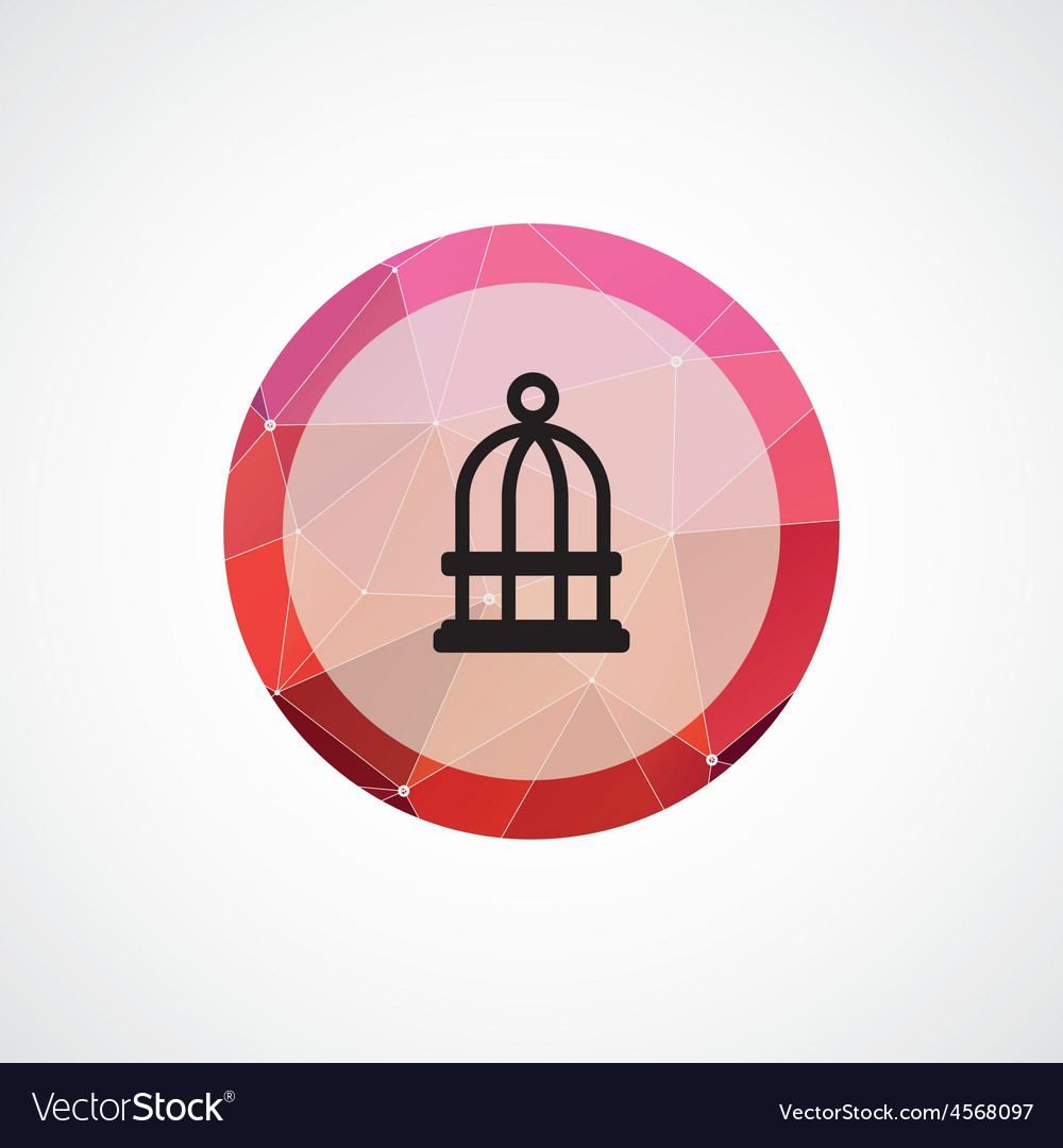 Bird cell circle pink triangle background icon vector | Price: 1 Credit (USD $1)