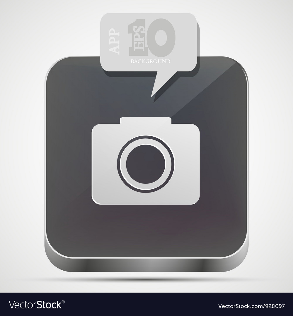 Camera app icon vector | Price: 1 Credit (USD $1)