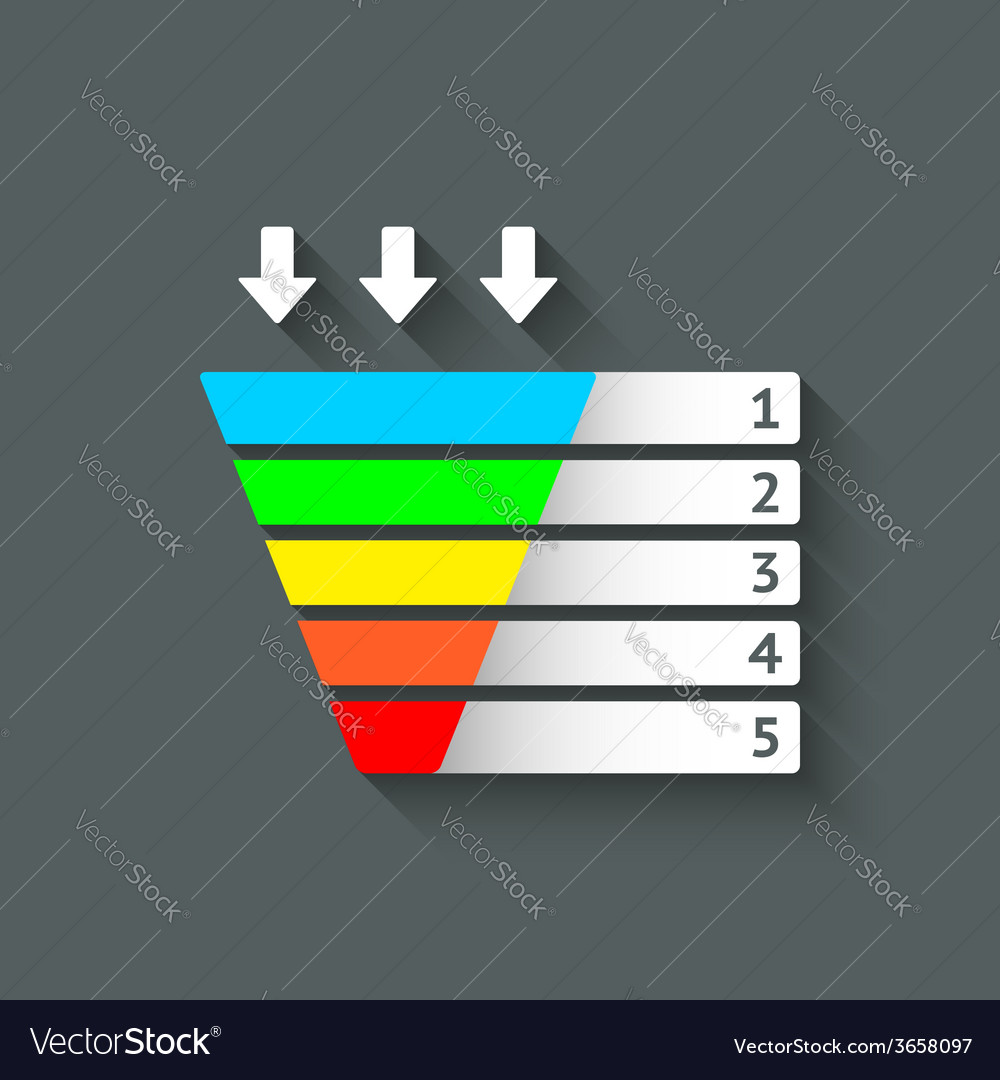 Color marketing funnel symbol vector | Price: 1 Credit (USD $1)