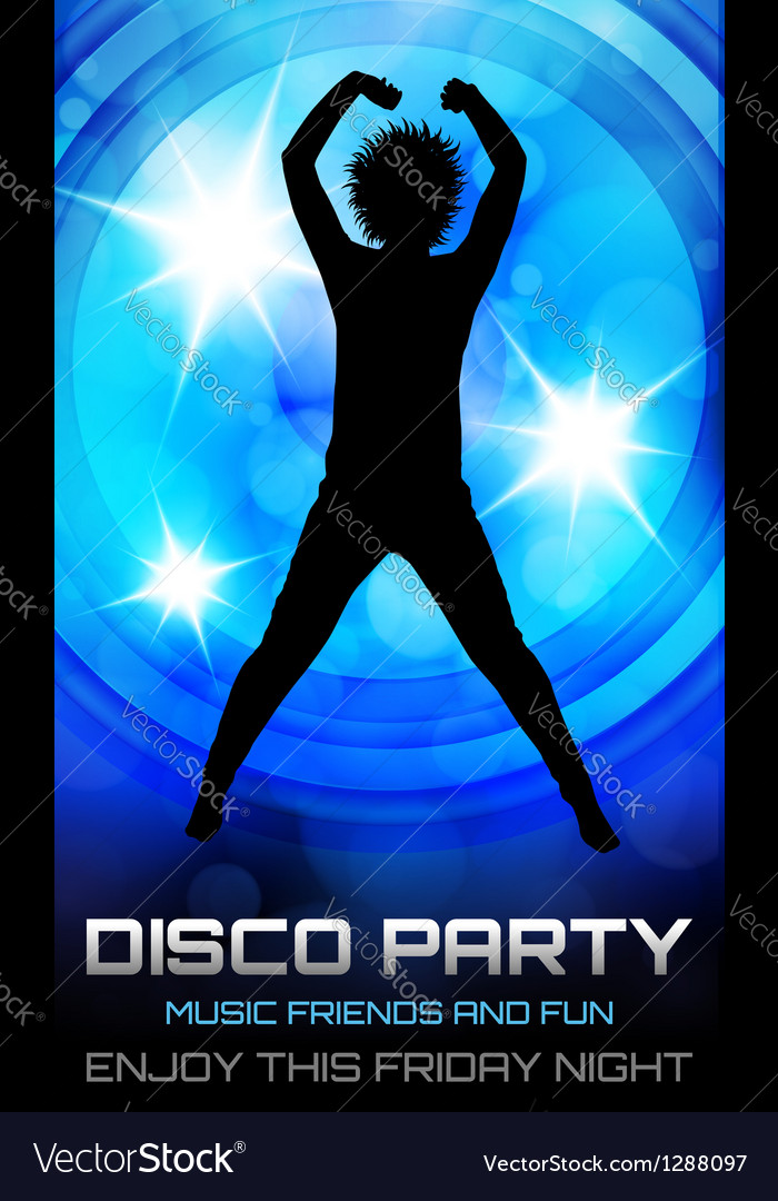 Disco party poster vector | Price: 1 Credit (USD $1)