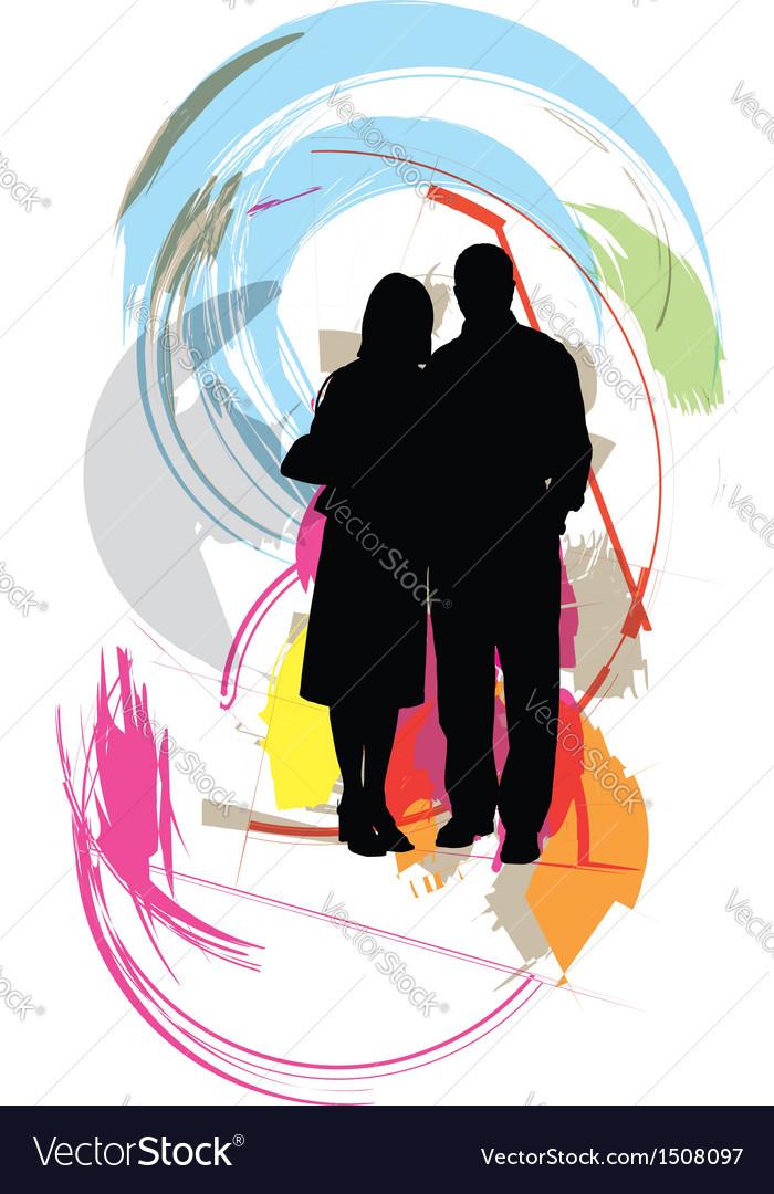 Fashion couple vector