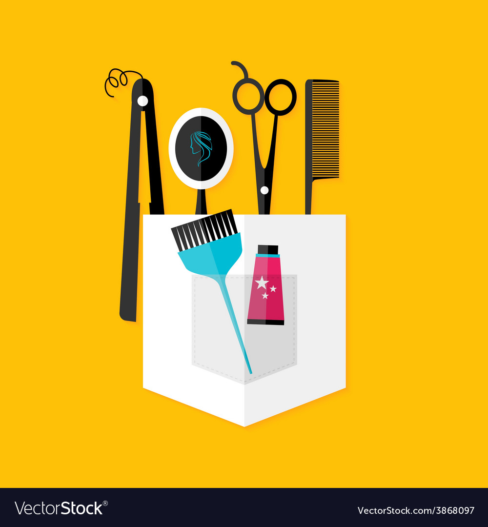 Hair stylist tools vector | Price: 1 Credit (USD $1)