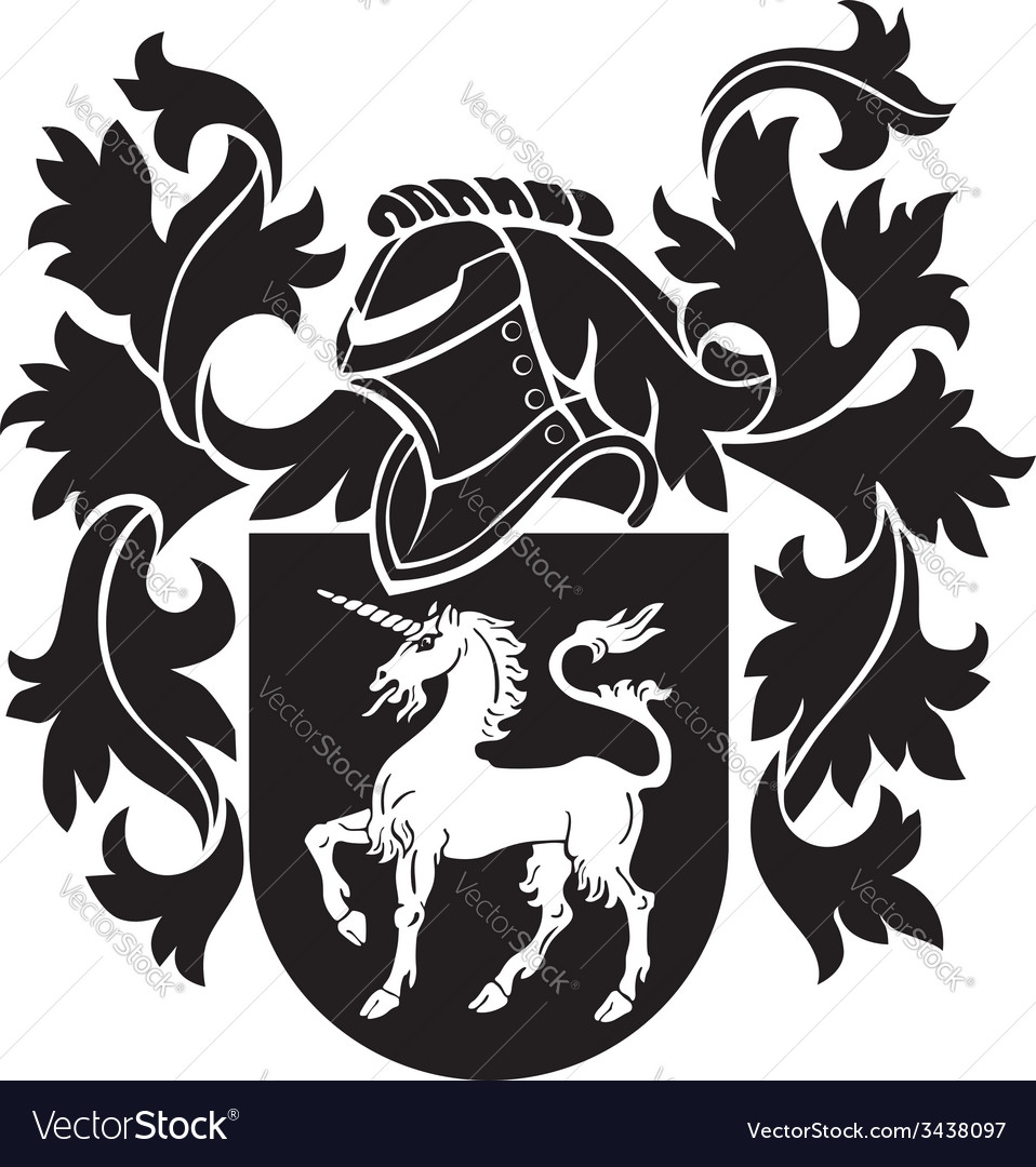 Heraldic silhouette no8 vector | Price: 1 Credit (USD $1)