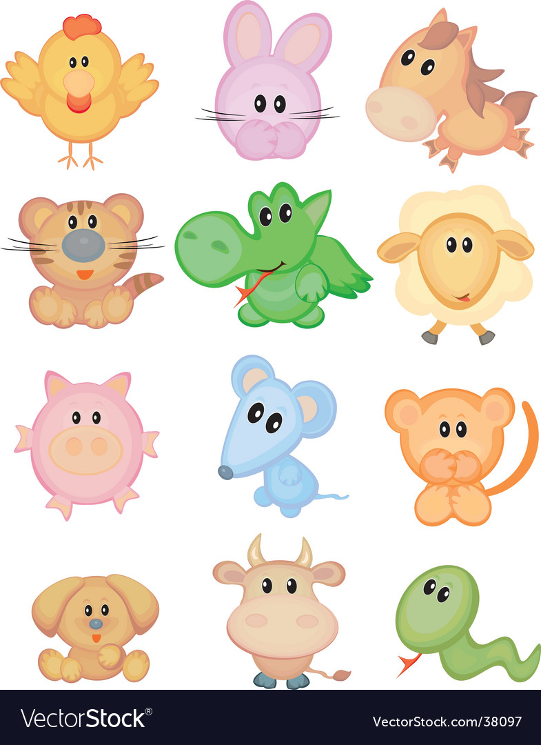 Horoscope animals vector | Price: 3 Credit (USD $3)