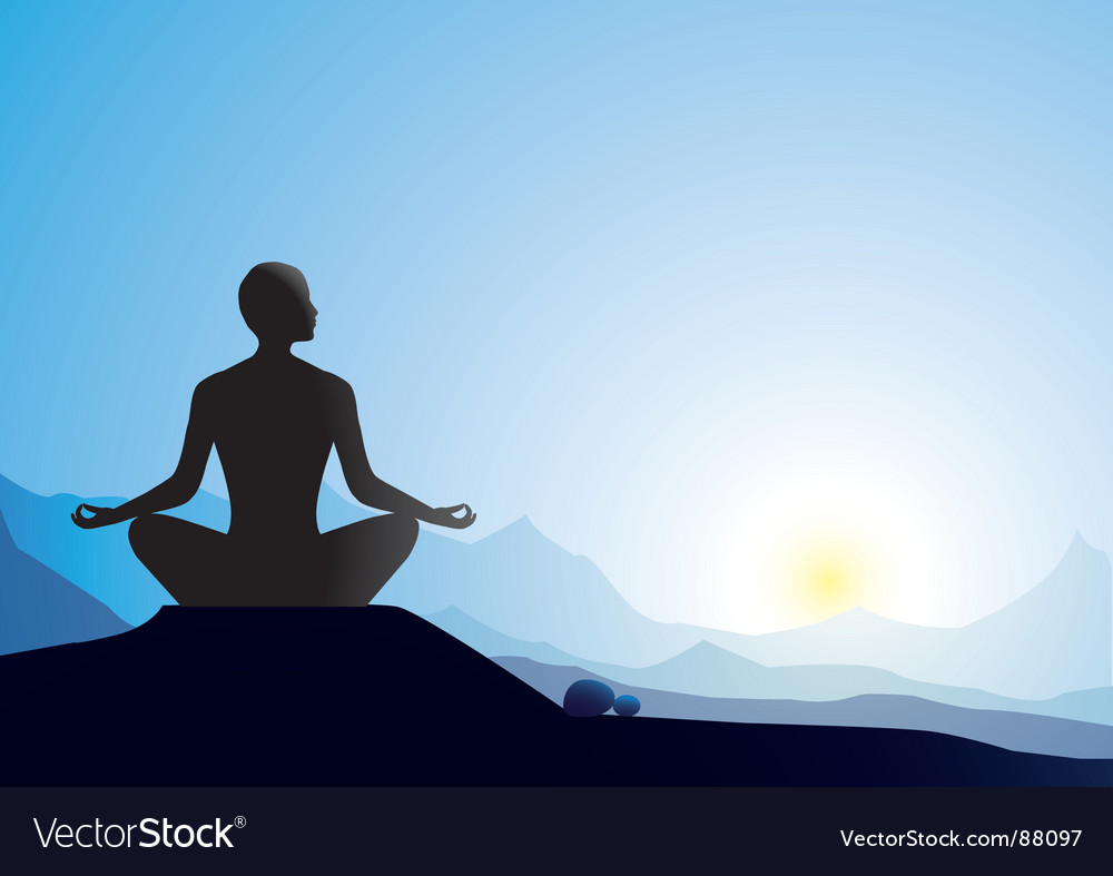 Lotus pose vector | Price: 1 Credit (USD $1)