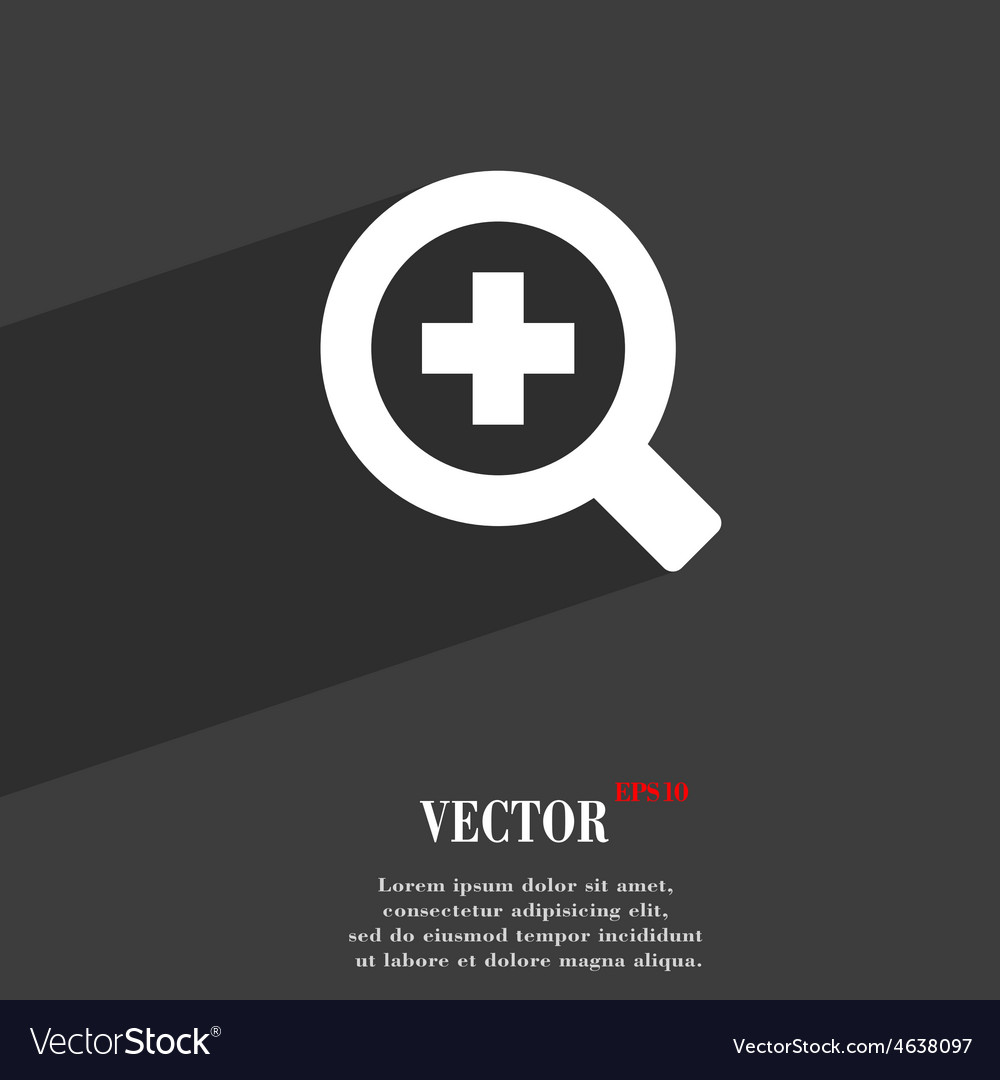 Magnifier glass zoom tool icon symbol flat modern vector | Price: 1 Credit (USD $1)