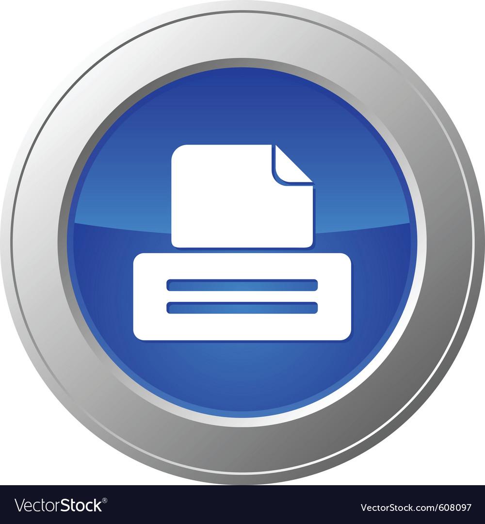 Printer button vector | Price: 1 Credit (USD $1)