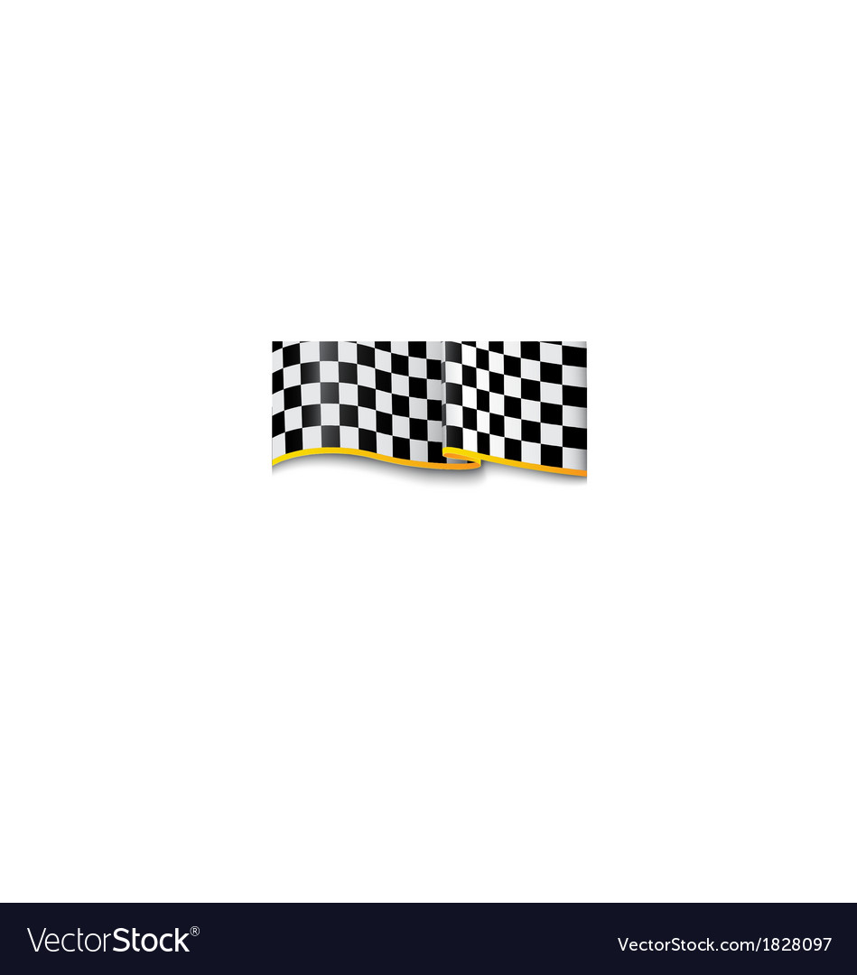 Race background checkered black and white vector | Price: 1 Credit (USD $1)