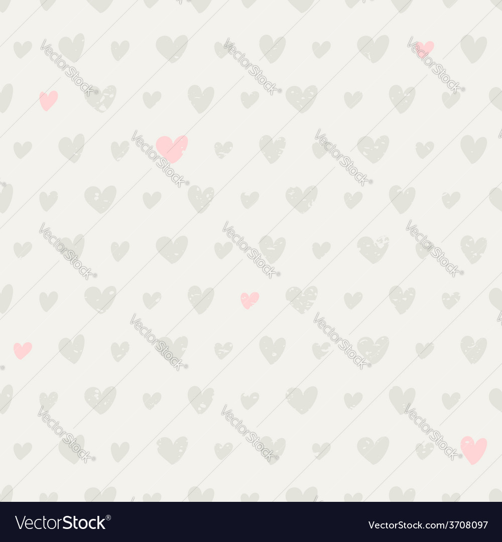 Seamless pattern with hearts in pastel colors vector | Price: 1 Credit (USD $1)