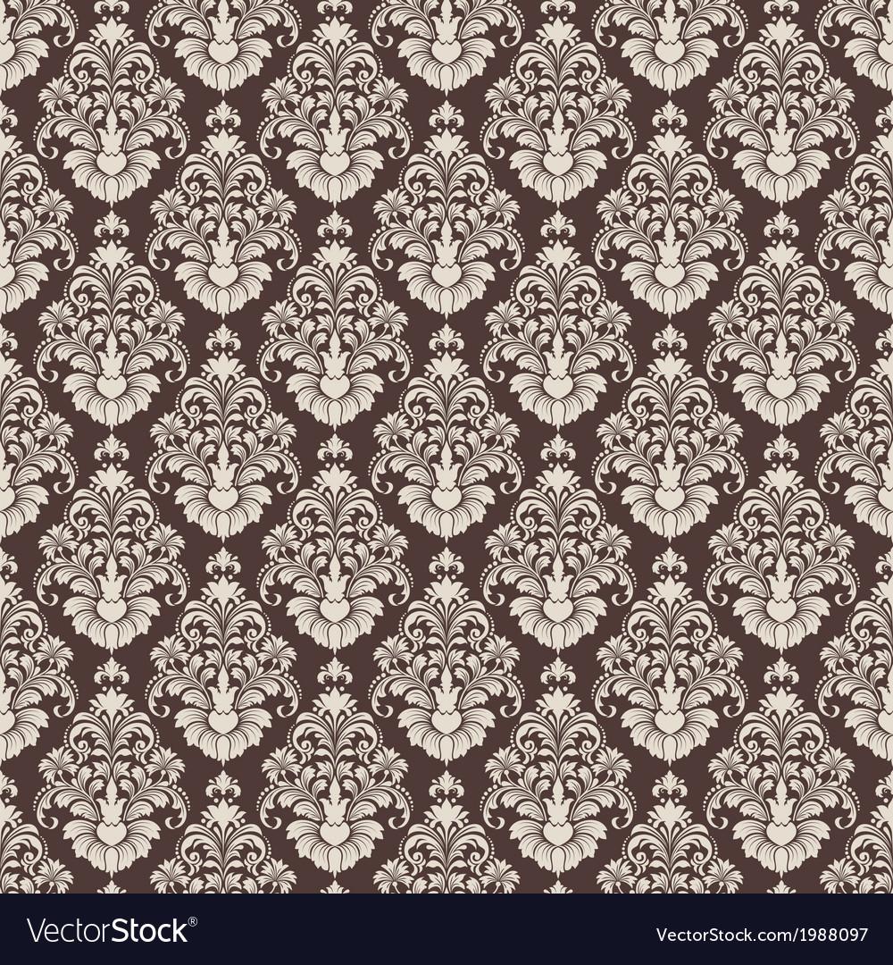 Vintage damask seamless pattern vector | Price: 1 Credit (USD $1)