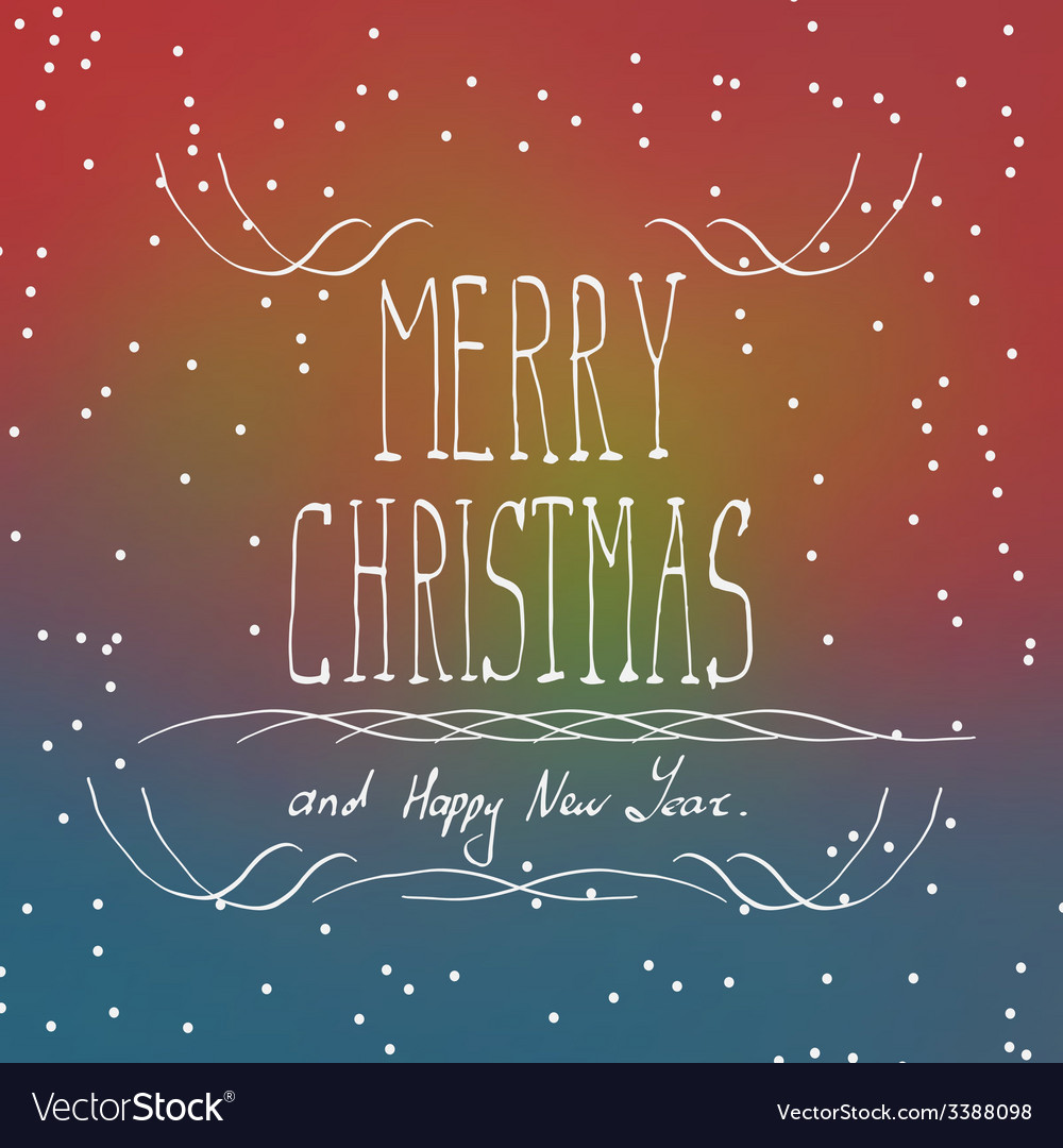 Christmas typography handwriting vector | Price: 1 Credit (USD $1)
