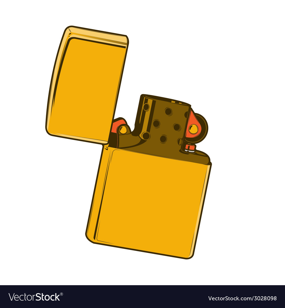 Golden zippo lighter vector | Price: 1 Credit (USD $1)