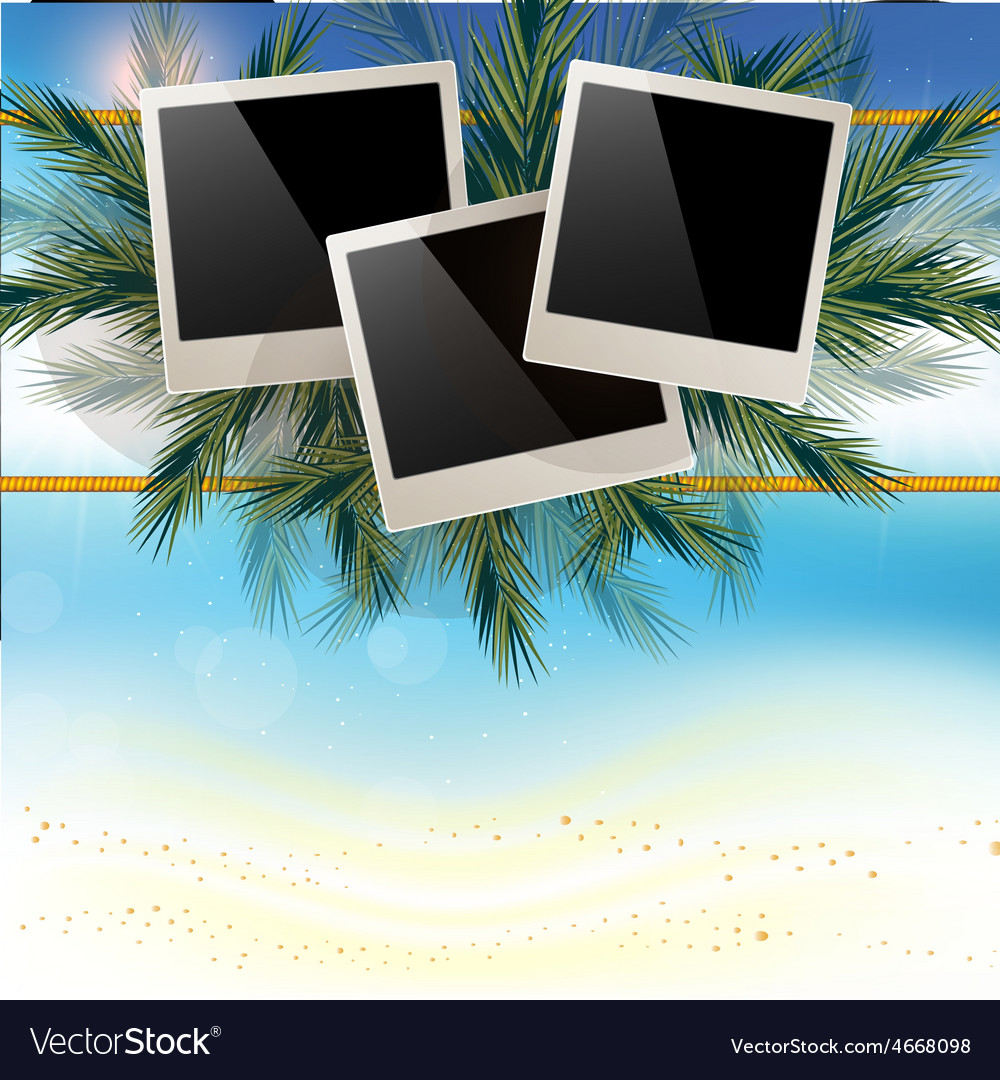 Marine background with white sand and a place for vector | Price: 3 Credit (USD $3)