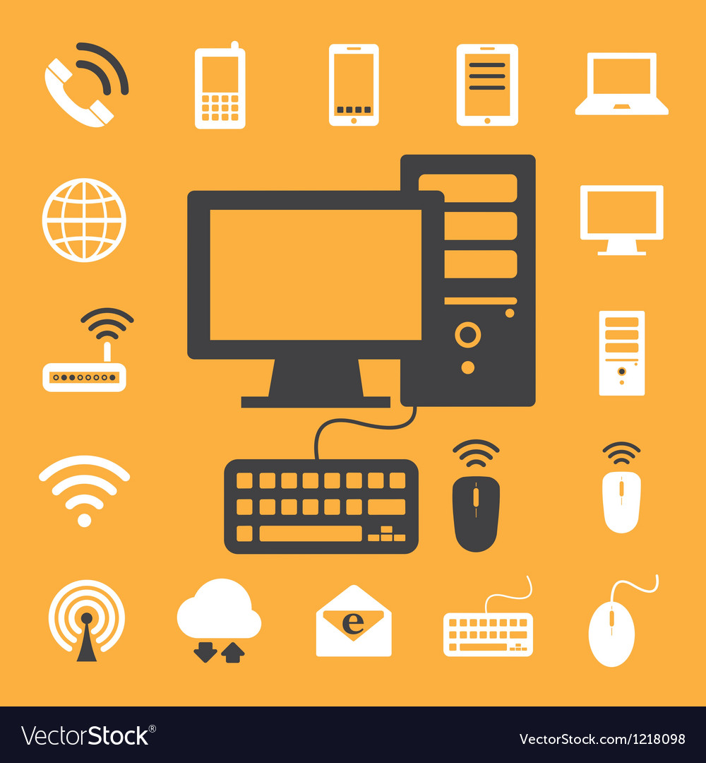 Mobile devices computer and network connections i vector | Price: 1 Credit (USD $1)