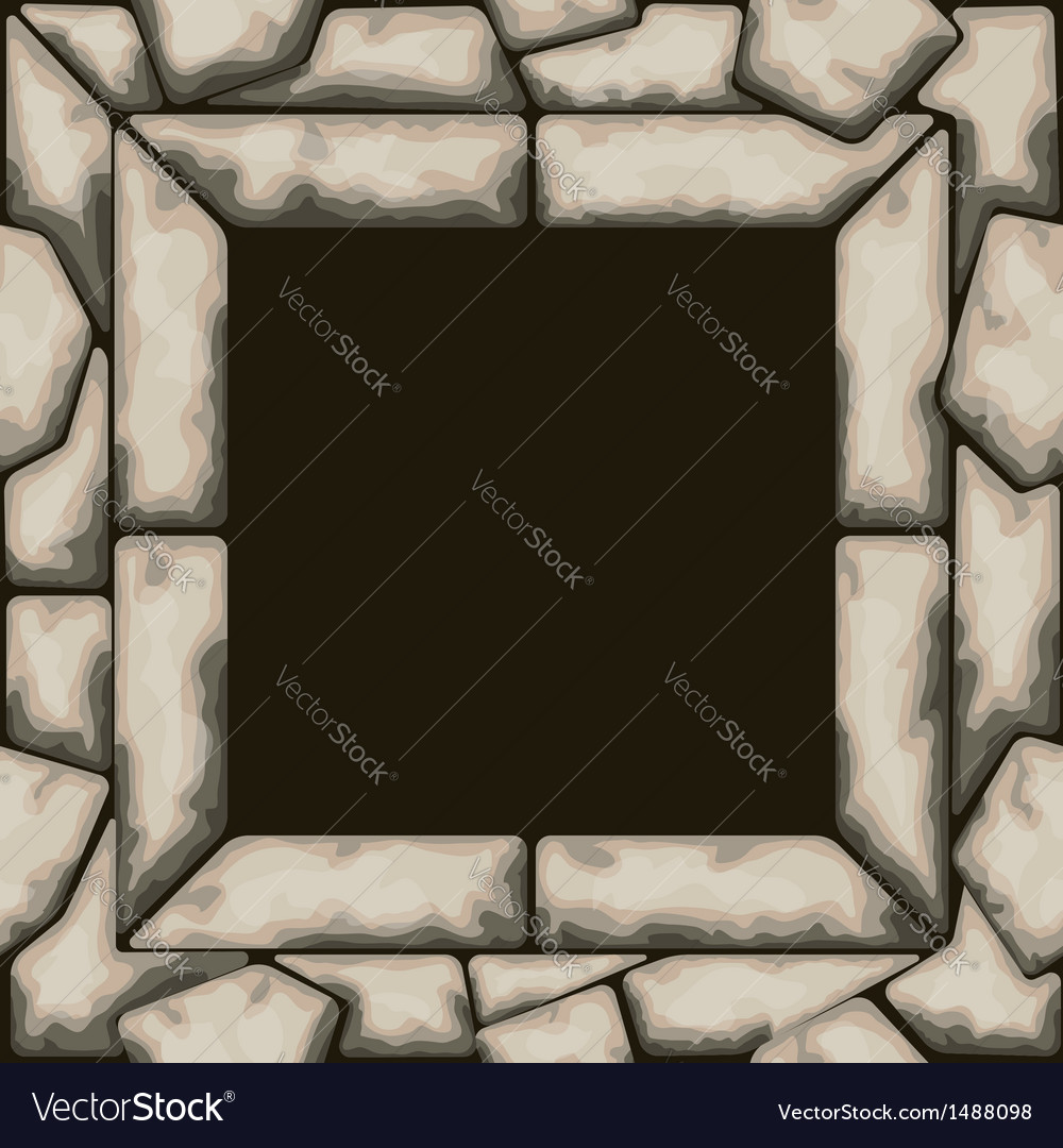 Rectangle frame with stone seamless pattern vector | Price: 1 Credit (USD $1)