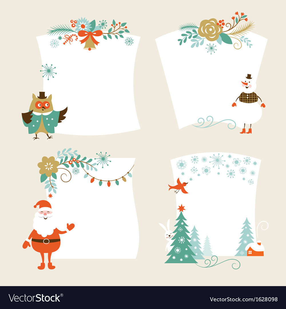 Set of christmas banners vector | Price: 1 Credit (USD $1)