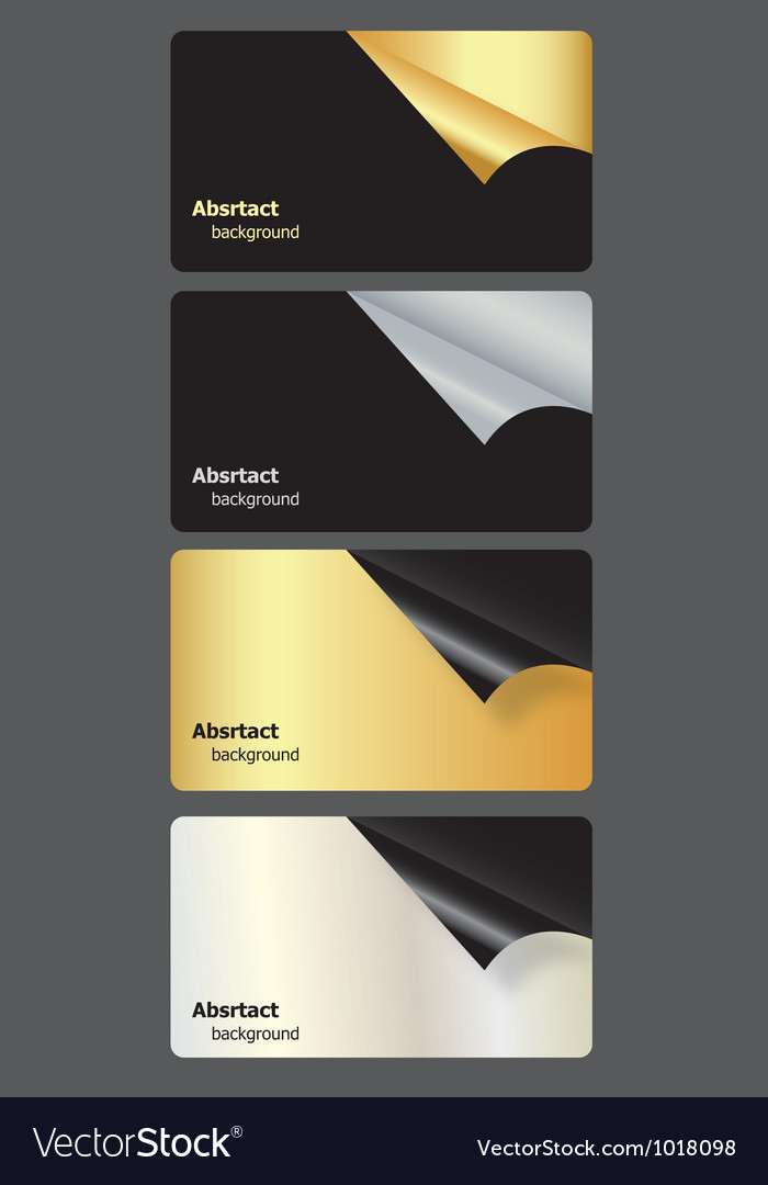 Set of gift cards with rolled corners vector   Price: 1 Credit (USD $1)