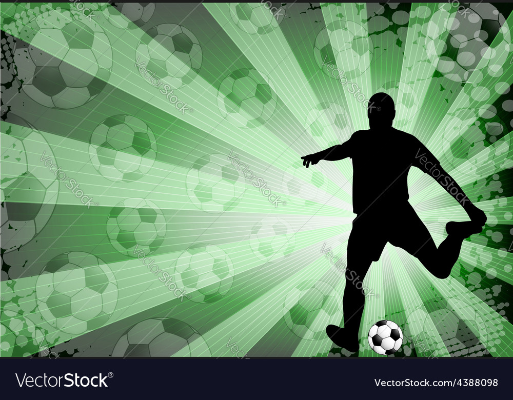 Soccer player on the abstract background vector | Price: 1 Credit (USD $1)