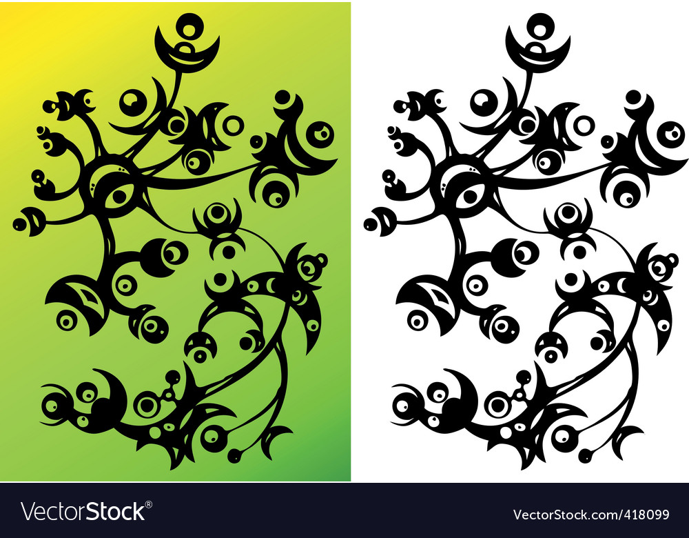Abstract flower ornament vector | Price: 1 Credit (USD $1)