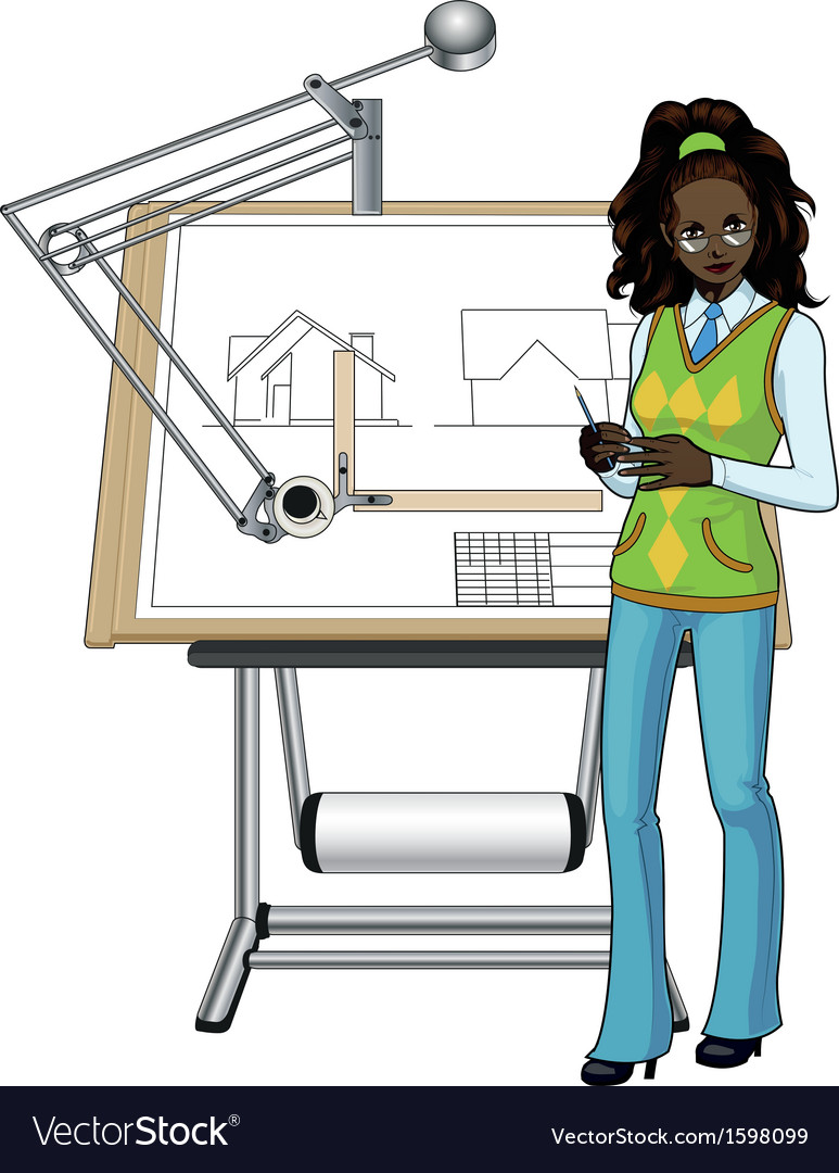 Afroamerican architect vector | Price: 1 Credit (USD $1)