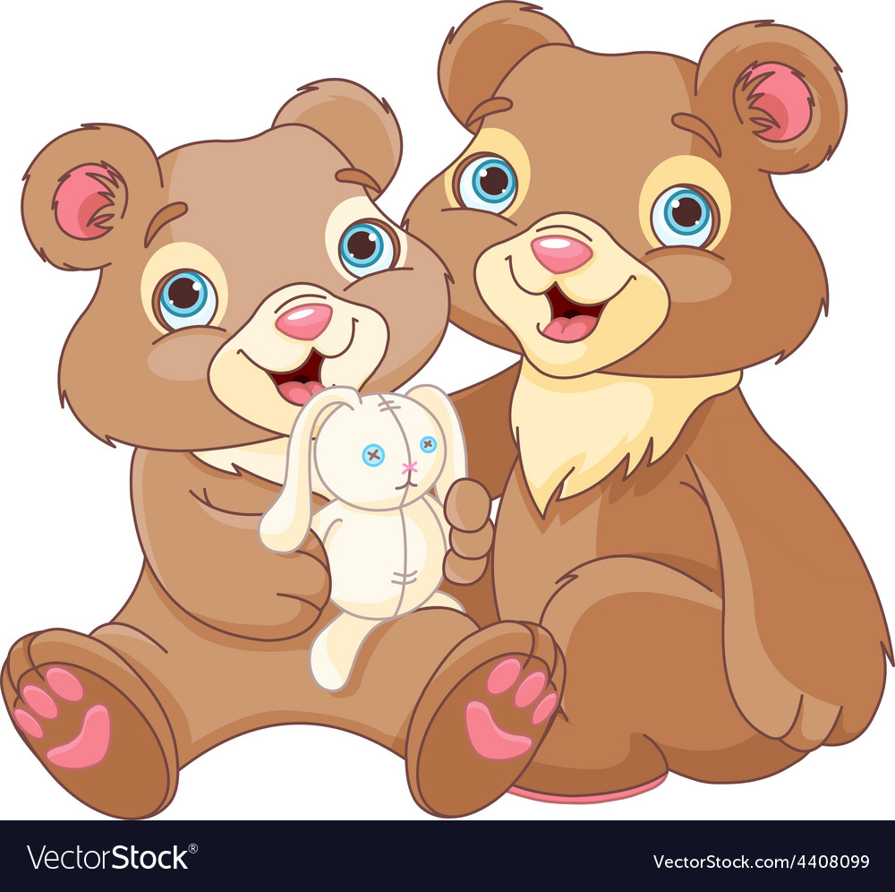Bear brothers vector | Price: 1 Credit (USD $1)