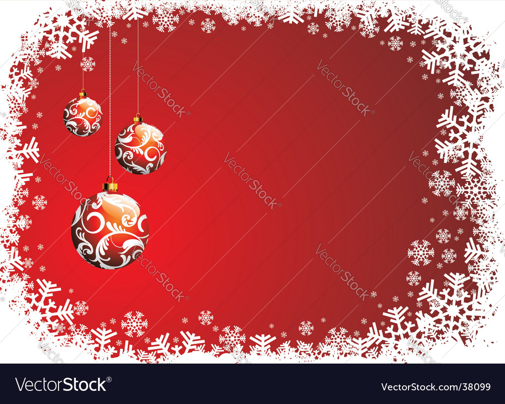 Christmas illustration with red glass vector | Price: 1 Credit (USD $1)